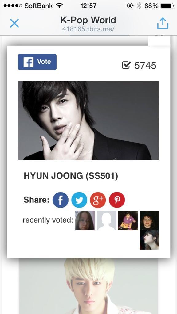 VOTE - Kpop World Most Handsome Kpop Idol