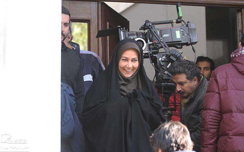 آناهیتا نعمتی در پشت صحنه فیلم عصر یخبندان