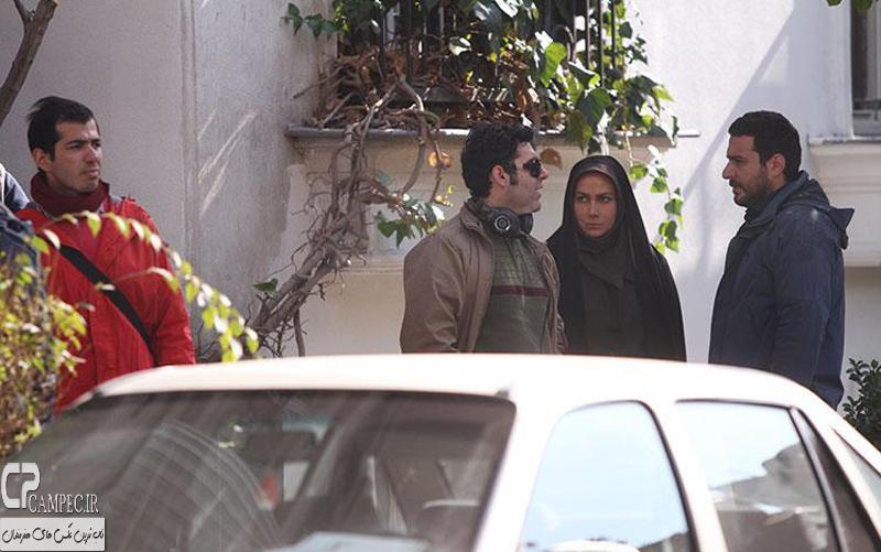 آناهیتا نعمتی و محسن کیایی در پشت صحنه فیلم عصر یخبندان