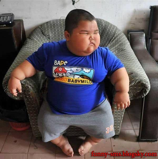 عکس جالب از خنده دارترین بچه تپل جهان