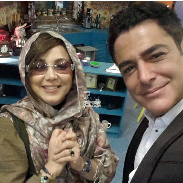 بهنوش بختیاری و محمد رضا گلزار و در پشت صحنه سریال عشق تعطیل نیست