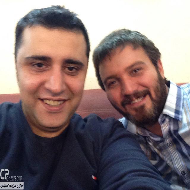 عکس جدید کامبیز دیرباز و سعید نعمت الله در پشت صحنه سریال میکائیل