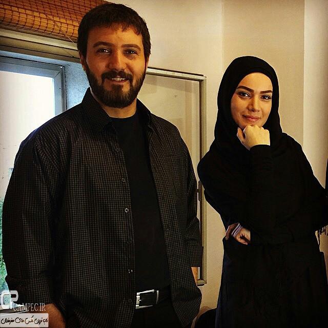 عکس جدید متین ستوده و کامبیز دیرباز در پشت صحنه سریال میکائیل