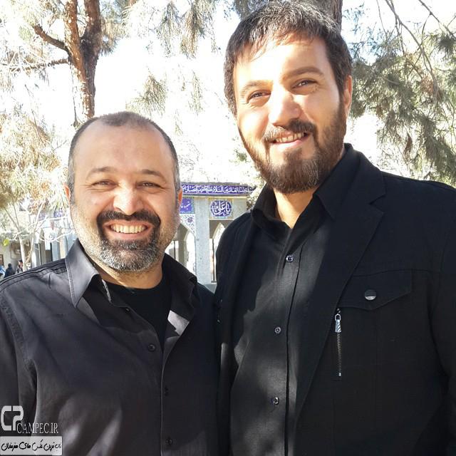 کامبیز دیرباز و علی صالحی در پشت صحنه سریال میکائیل