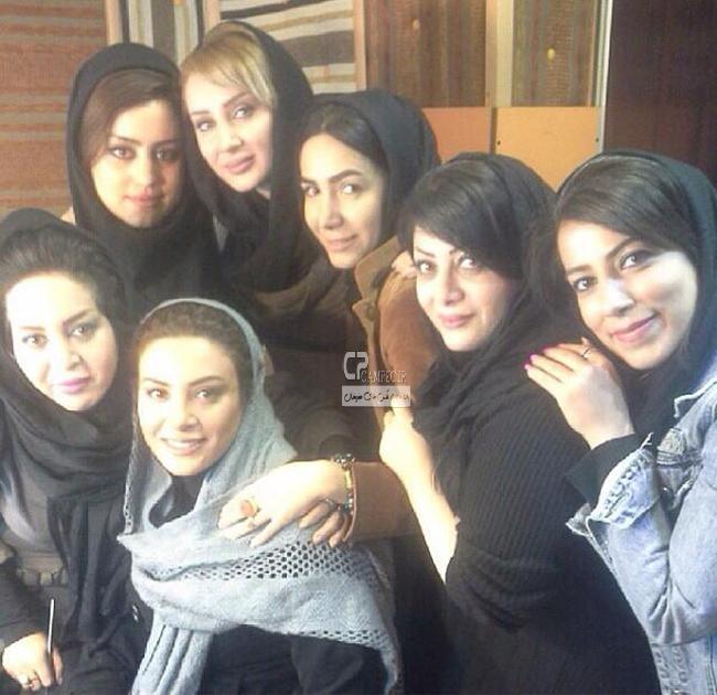 عکس جدید حدیثه تهرانی و سولماز حصاری