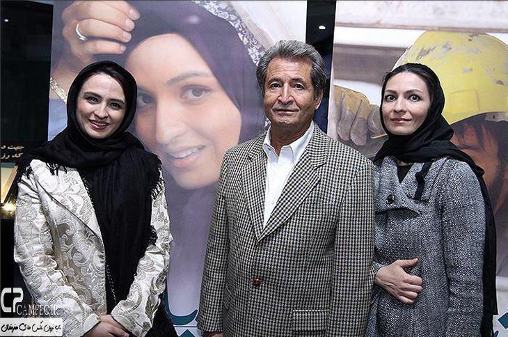 عکس جدید گلاره عباسی و پدر و خواهرش