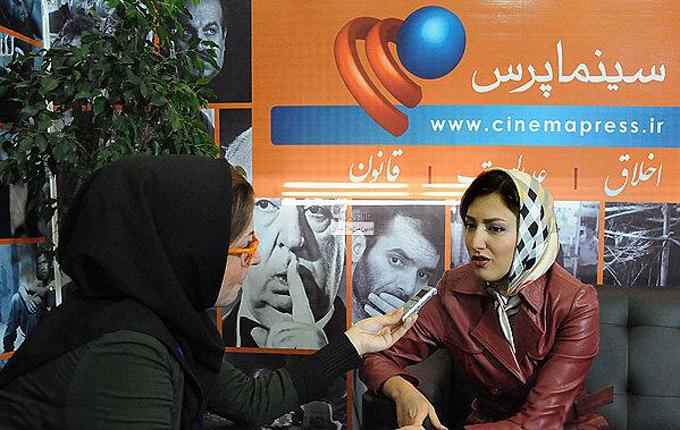 سمیرا حسینی در نمایشگاه مطبوعات