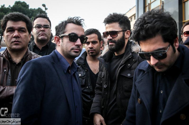 سیروان خسروی درمراسم تشییع پیکر مرحوم مرتضی پاشایی