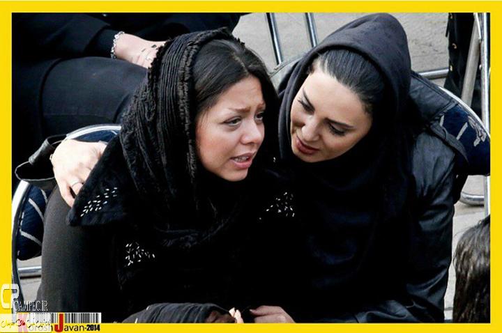 لیلا بلوکات و مریم قاسمی در مراسم خاکسپاری مرتضی پاشایی