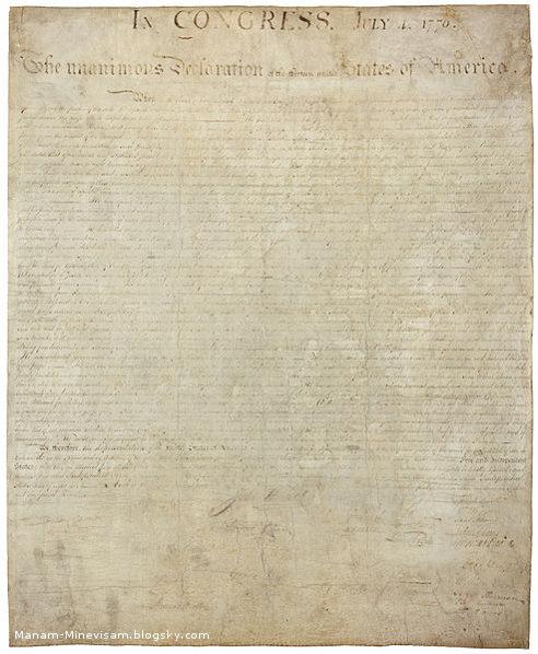 آثار باستانی قدیمی که اتفاقی پیدا شدن - اعلامیه استقلال آمریکا