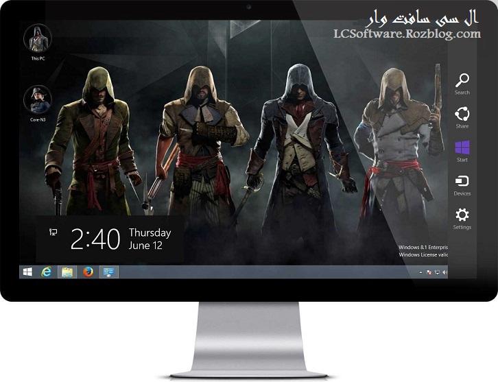 دانلود تم Assassin's Creed Unity برای ویندوز 7 , 8 و 8.1