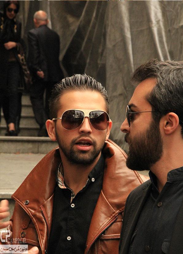 محسن افشانی در مراسم ختم مرتضی پاشایی