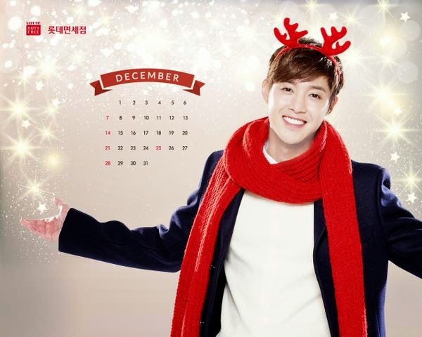 Photo_Kim Hyun Joong - Lotte Duty Free December 2014 Calendar Wallpaper
