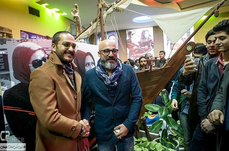 امیر آقایی و میلاد کی مرام در مراسم اکران فیلم مستانه