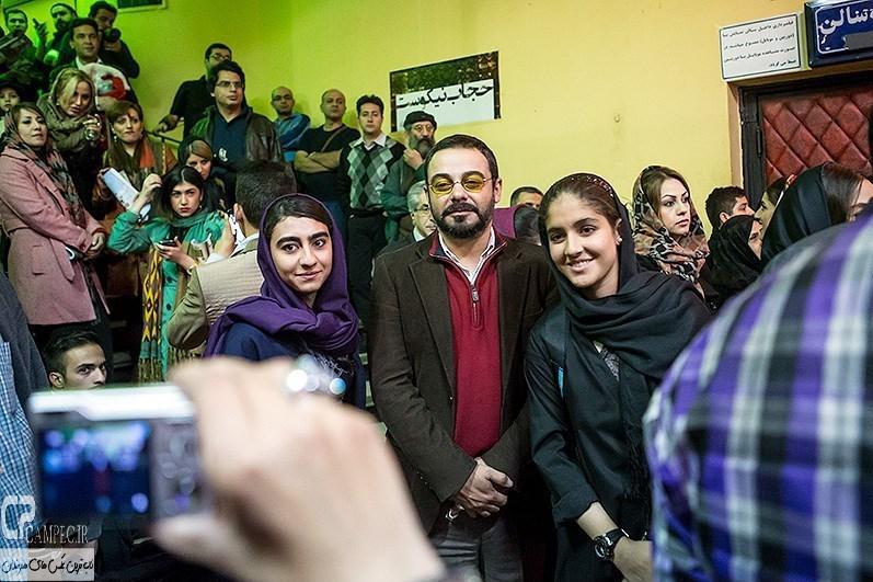 سام قریبیان در مراسم افتتاحیه فیلم سینمایی مستانه