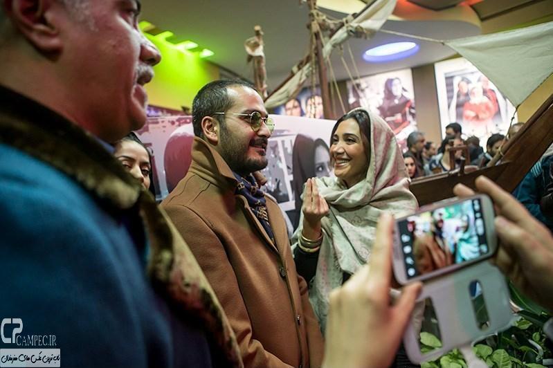 نیکی مظفری و میلاد کی مرام در مراسم افتتاحیه فیلم سینمایی مستانه