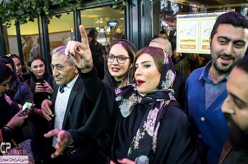 سحر دولتشاهی و مهناز افشار در مراسم افتتاحیه فیلم سینمایی مستانه