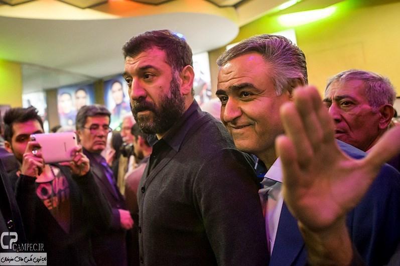 علی انصاریان در مراسم افتتاحیه فیلم سینمایی مستانه