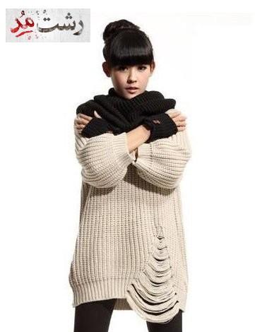 مدل لباس بافتنی زمستانه جدید دخترانه