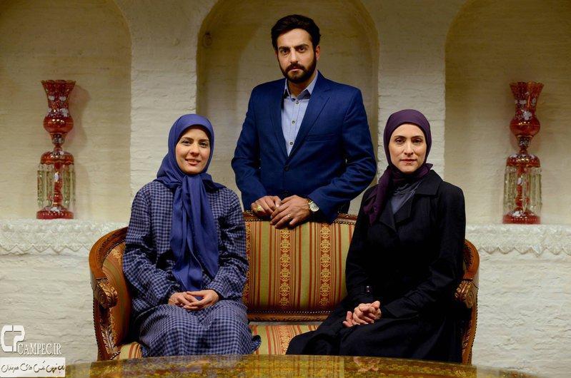 حامد کمیلی،ویشکا آسایش و سارا بهرامی در پشت صحنه سریال پرده نشین