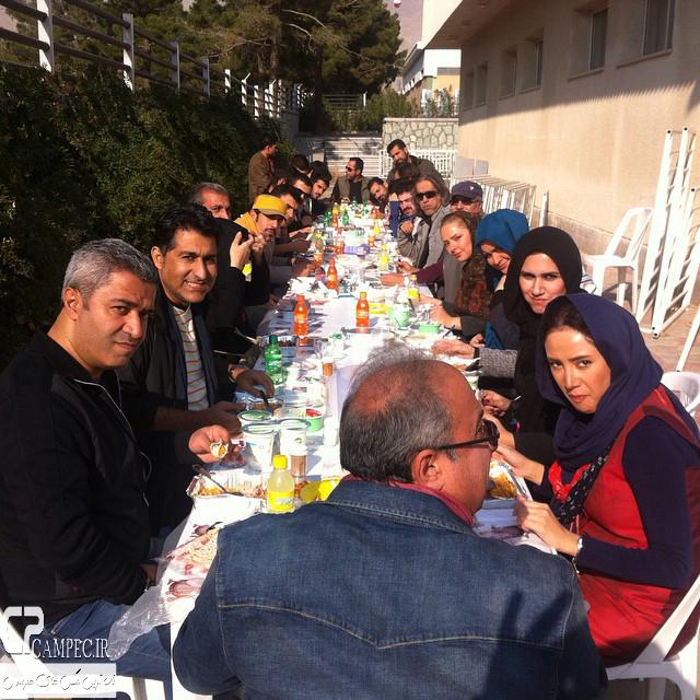 عکس جدید بهاره افشاری در پشت صحنه سریال آخرین سلطان