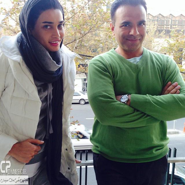 عکس جدید تینا آخوند تبار و بهمن گودرزی