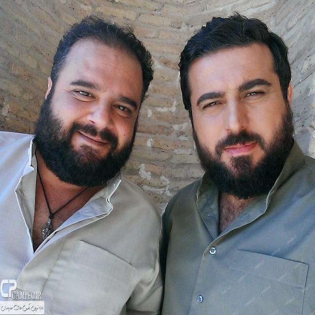 محسن کیایی و هومن برق نورد در پشت صحنه سریال پرده نشین