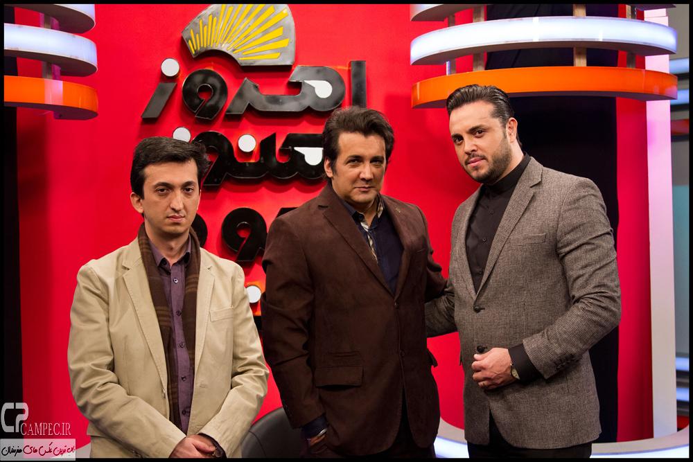 حسام نواب صفوی و جلال الدین دری در پشت صحنه برنامه امروز هنوز تموم نشده