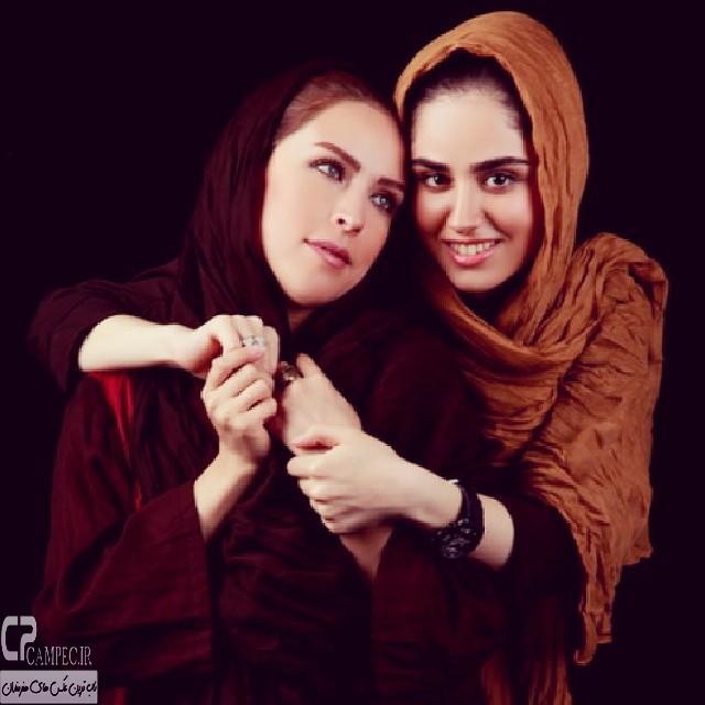 عکس جدید هانیه غلامی با مادرش لادن سلیمانی