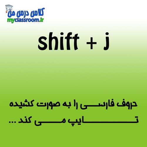 کشیدن حروف فارسی در تایپ