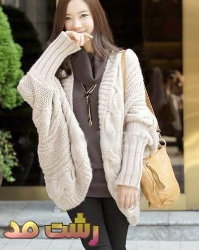 لباس زمستانه کوتاه گشاد دخترانه زنانه توجوان