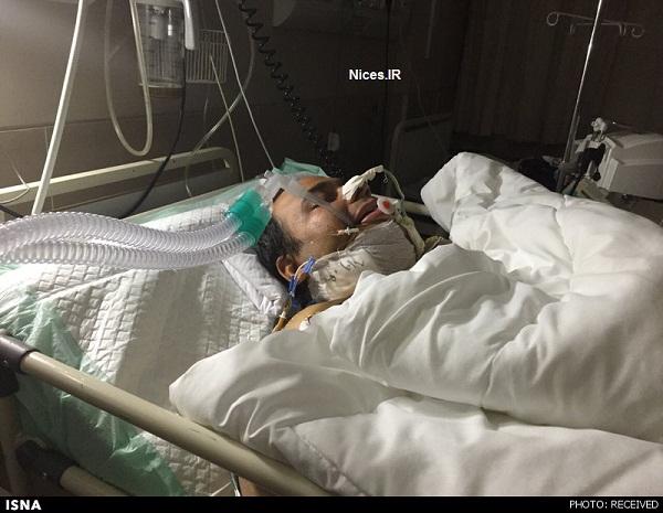 رضا داوود نژاد در بیمارستان
