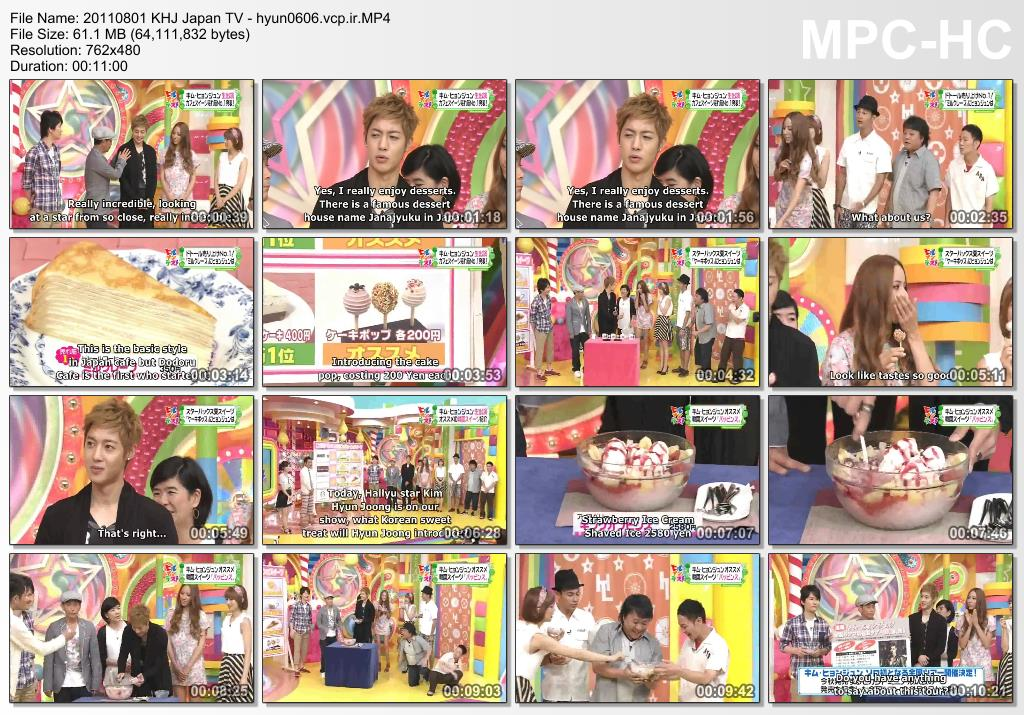 [Eng Sub] Kim Hyun Joong Japan TV [2011.08.01]