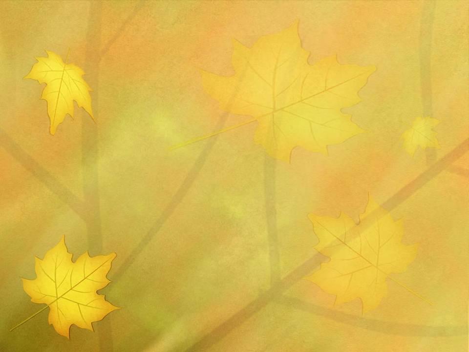 طراحی درخت ساده قالب پاورپوینت ساده برگ پاییزی