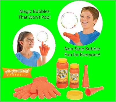 خرید دستگاه حباب ساز جاگل بابل با دستكش Juggle Bubbles