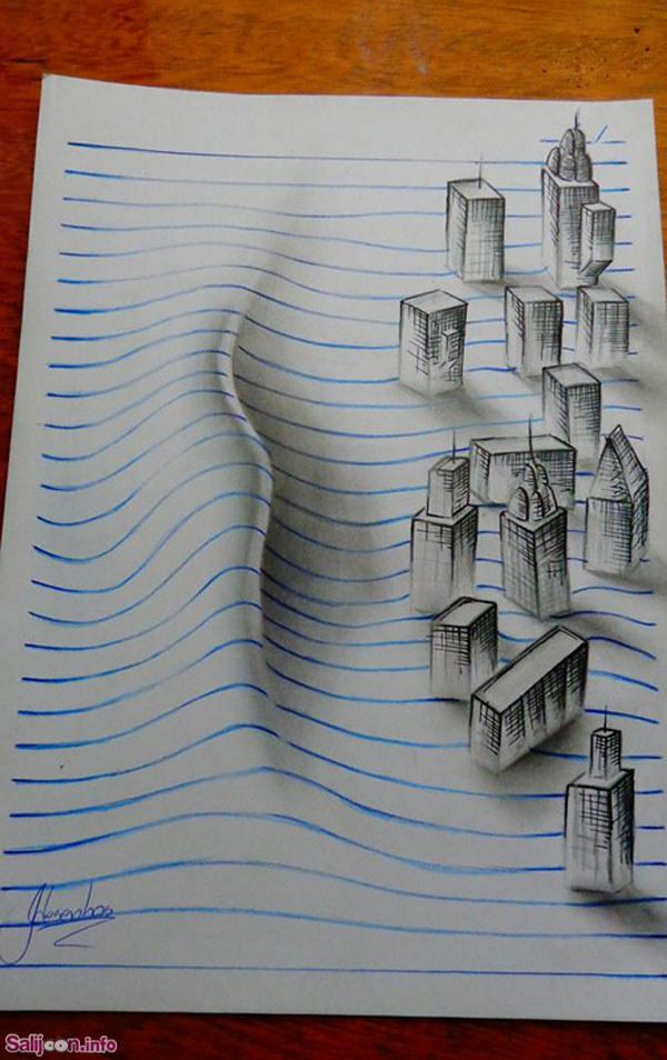 فتوگالری: نقاشی های 3 بعدی و توهم انگیز