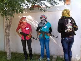 زنان بد کاره در کنار تروریست های سوریه(ارتش آزاد سوریه)