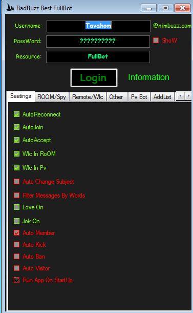 BadBuzz Best FullBot Coded By: MiLAD tavahom@Nim.com Ax1