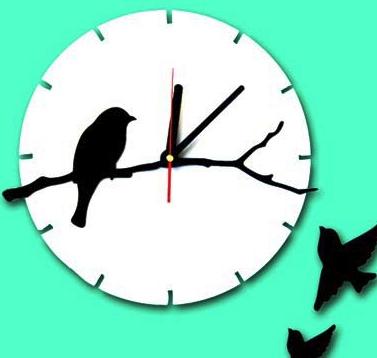 خرید ساعت دیواری پرنده تنها و مدل عشق دونیا