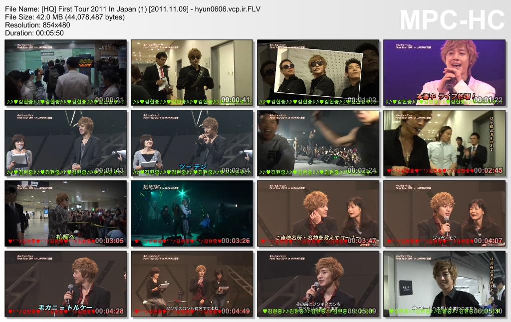 [Video Making] Kim Hyun Joong - First Tour 2011 In Japan [2011.11.09]
