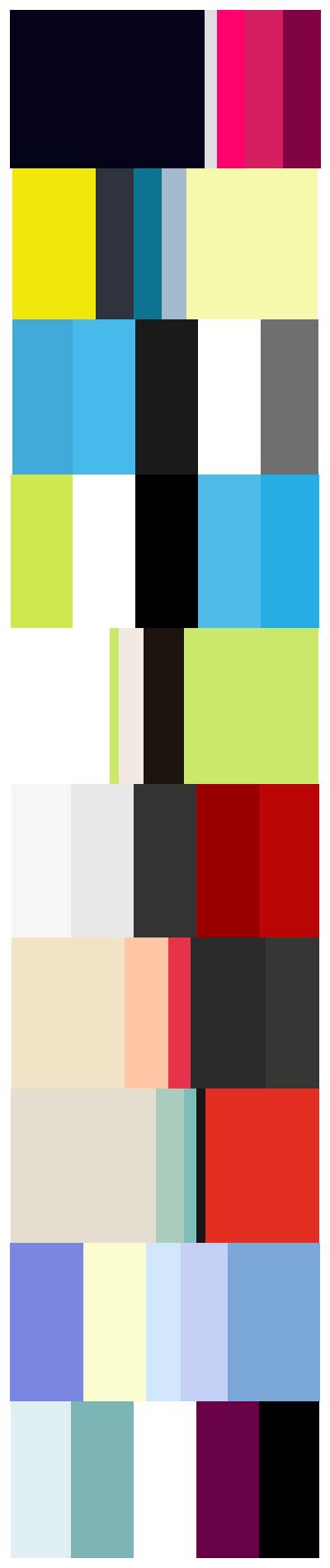 کدام طبقه از رنگ های زیر را می پسندید؟ لطفا نظر بدهید.