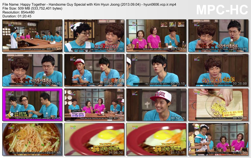 [Eng Sub] Happy Together - Handsome Guy Special With Kim Hyun Joong [2013.09.04]