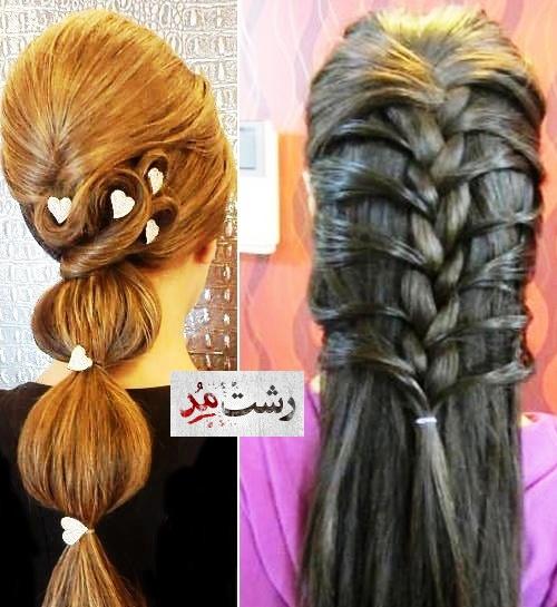 نمونه مدلهای شینون مو کوتاه بلند باز بسته زنانه و عروس