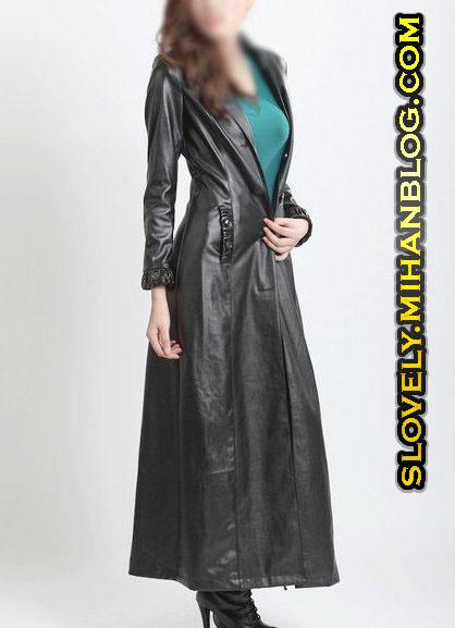 جدیدترین مدلهای پالتو چرمی مشکی زنانه دخترانه
