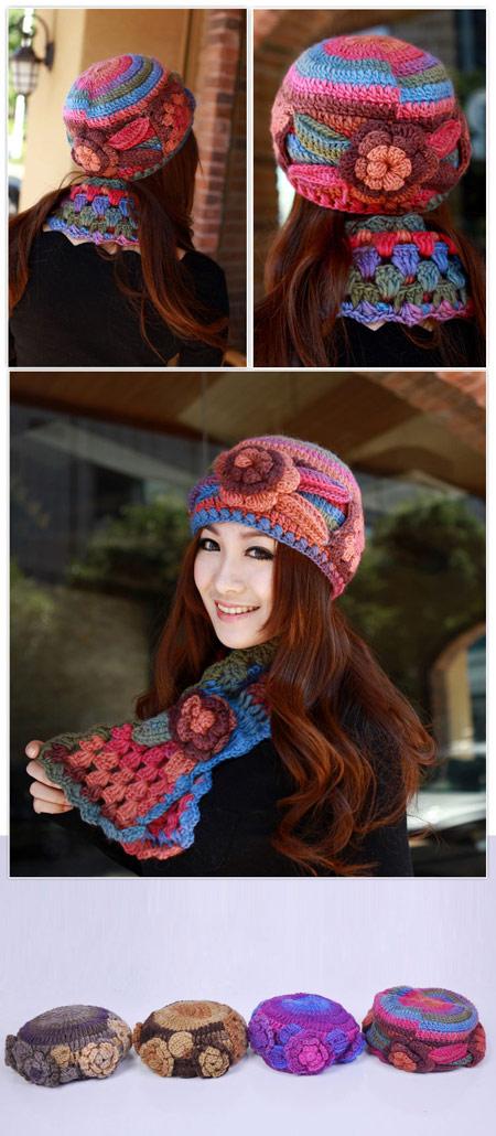 خرید شال و کلاه زنانه مدل هانا