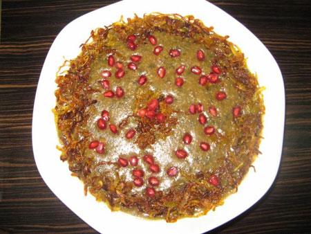 طرز تهیه آَش انار,غذای مخصوص شب یلدا,طرز تهیه آش آذری