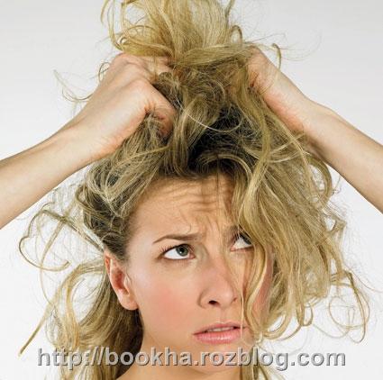موهای چرب و گره خوردهای دارید