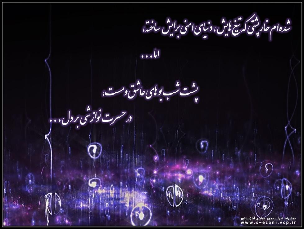شده ام خارپشتی در حسرت نوازشی بر دل_صفحه شخصی صابر اذعانی