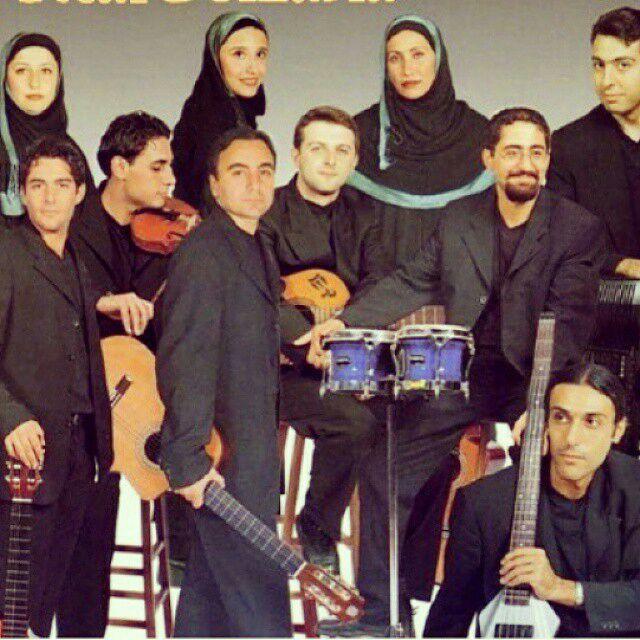 عکس محمدرضا گلزار در گروه آریان