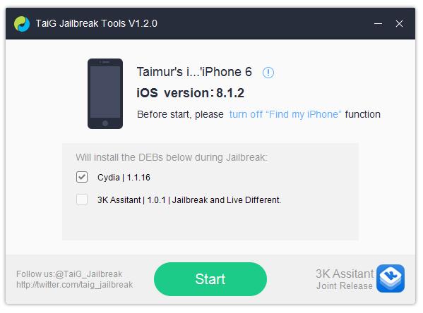 جیلبرک iOS 8.1.2